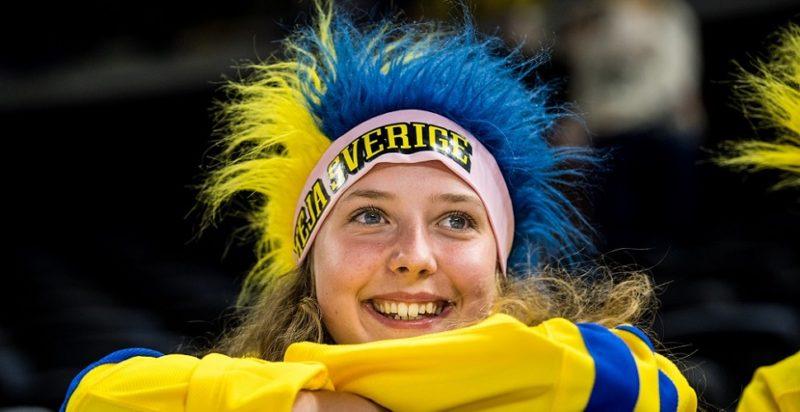 Svenskat fan under hockey VM