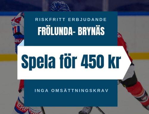 Riskfritt (14/9): SHL – Frölunda vs Brynäs