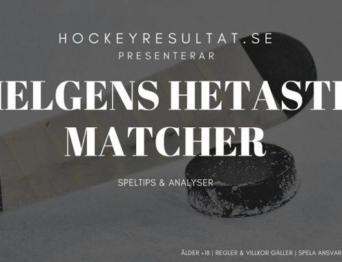 Intressanta hockeymatcher i helgen