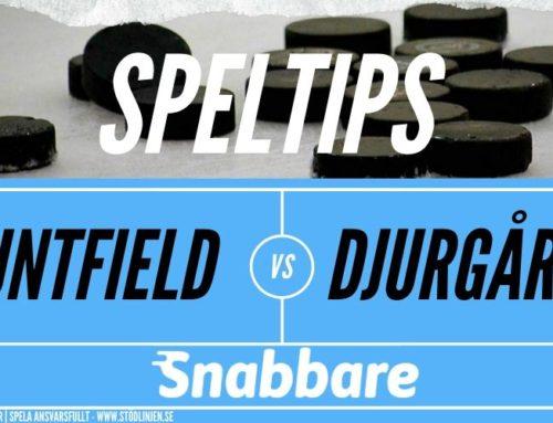 SPELTIPS 13/1 | CHL | Mountfield – Djurgården