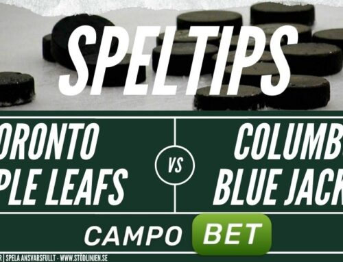 SPELTIPS 4/8: Toronto Maple Leafs – Colmbus Blue Jackets