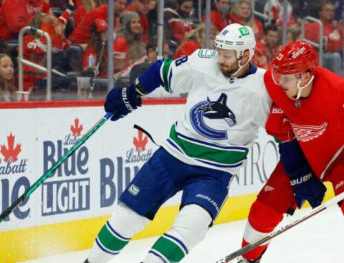 Lucas Raymond med karriärens första hattrick i NHL